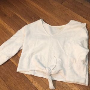Madewell cropped v neck top